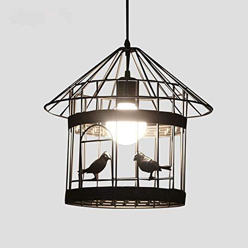 WSXXN LOFT Industrie Retro Vogelkäfig Anhänger Deckenleuchte Schmiedeeisen Kronleuchter Beleuchtung Kreative Nordic Cafe Cyber   Bar Bar Restaurant Kleiner Vogel Esszimmer Hängen Licht