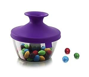 Tomorrow's Kitchen 2830860 Popsome Distributeur pour confiserie en Plastique Violet 19 x 14,8 x 19,4 cm