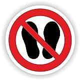 Betreten der Fläche verboten / VER-13 / Sicherheitszeichen / Piktogramme / DIN EN ISO 7010 (10cm)