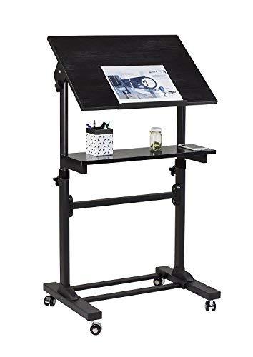 Mount-It. Mobile Ständer Schreibtisch, Podium, Präsentation Rednerpult höhenverstellbar Mehrzweck stehend Workstation -
