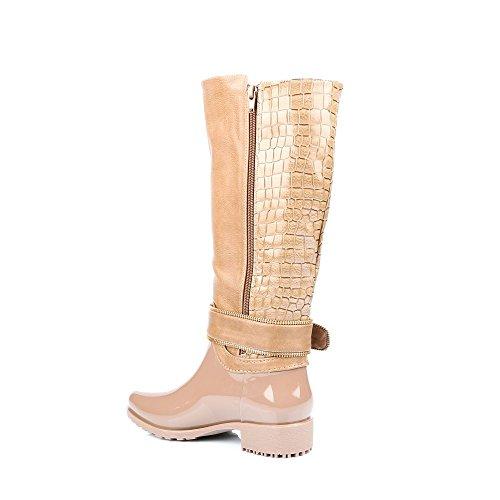 Bernardine Réptil Com Sapatos E Estilo Algum De De material Ideais Botas Taupe Furo Acoplamento Borracha Bi 8qxqR6fHn