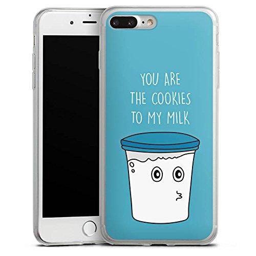 Apple iPhone X Slim Case Silikon Hülle Schutzhülle Sprüche Milk & Cookies Blau Silikon Slim Case transparent