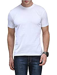 Kalpit Men's Basic Cotton Round Neck Half Sleeve Solid T-shirts [available In Many Colours]