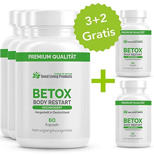 Betox Body Restart - Abnehmen & Entschlacken für eine normale Darmflora, 60 Kapseln, 5 Dosen -