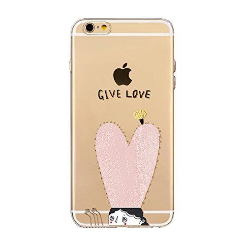 "CoqueiPhone 6S Plus Etui Housse,BoomTeck Coque Pour 5.5"" Apple iPhone 6S Pus/iPhone 6 Plus Silicone Souple Transparente Motif Clear Ultra Mince Anti Choc Anti-rayures Gel TPU Etui Protection Bumper C 17"