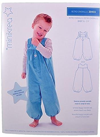 Schnittmuster Retro Overall für Babys & Kinder / Gr. 74-98cm