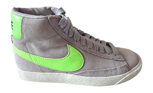 Nike Blazer Damen High Leder Hi Top Turnschuhe 615898Sneakers Schuhe, Grey, Verschiedene -