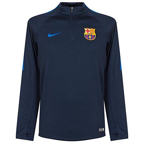 Nike FCB M DRIL TOP SQD - Langärmeln T-Shirt FC Barcelona Blau - L - Herren