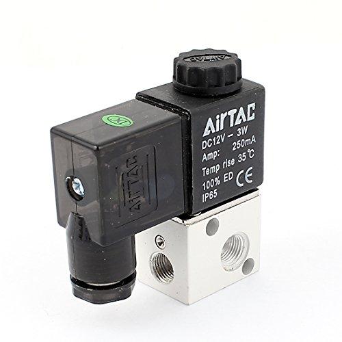 Aexit 12VDC 125mA 3W 1/20,3cm PT 2Position 3Way Gas Air Magnetventil (Magnetventil-120v)