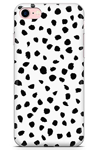 Case Warehouse iPhone 7/8 Blanco Dálmata Imprimir Funda de Teléfono de Goma Cover Huella Animal Perro Gato 101 Nederdel