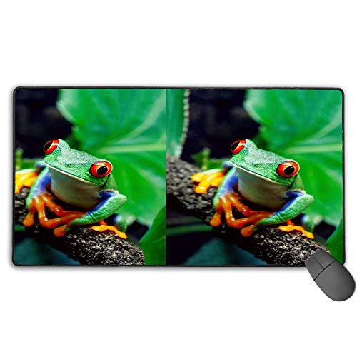 liulishuan Large Gaming Mouse Pad/Mat, Frog Pattern Custom Mouse Pads with Non-Slip Rubber Base for Computers Laptop, Durable Stitched Edges Design18 Express-bluetooth-notebooks