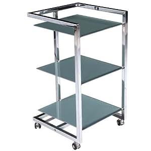 beistelltisch regal nachttisch glas metall tisch badezimmerschrank rudi b154035. Black Bedroom Furniture Sets. Home Design Ideas