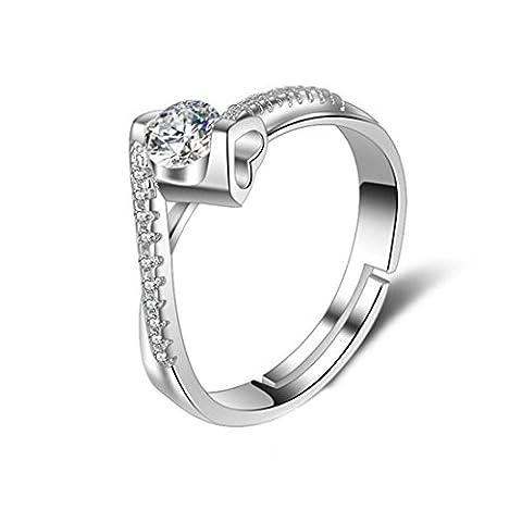 Z&YQ Ring Platinum überzogene Diamantrhinestone-Ringepers5onlichkeit Kristallschmucksachen