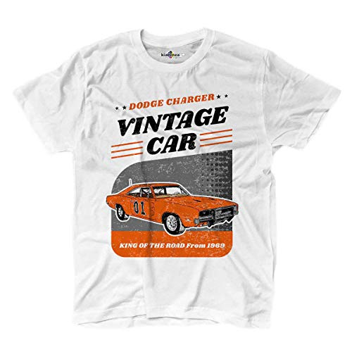 T-Shirt Oldtimer Klassiker King of Hazzard Auto Generale Lee Anni 80