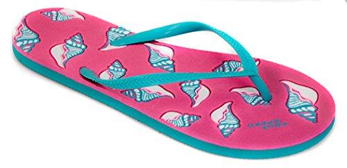 AQUA-SPEED® NAPOLI Tongs (36-41 Femmes Plage) Farbe 03 / Pink-Türkis