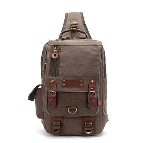 Imagen de uwild ® crossbody del hombro  bolsa de viaje honda  sin honda del morral del hombro del bolso del bolso táctico brown