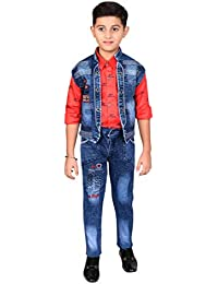 Ahhaaaa Kids Shirt, waistcoat and pant Set for Boys