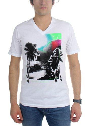 Diesel Männer T-Wat Maglietta T-Shirt White