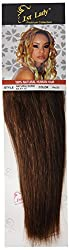 1st Lady Silky Straight Natural European Weft Human Hair Extension with Premium Blend Weave, Number P4/33, Chocolate/Rich Copper Red, 10-Inch