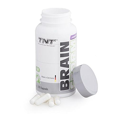 TNT Brain Storm Koffein-Tabletten | Vitamine, Biotin, Mineralstoffe, L-Theanin, Kupfer, Grüntee-Extrakt für Konzentration und Energy im Sport und Fitness | 60