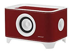 Sonoro Troy Universal Desktop Speaker Stand With Charger - Red Felt