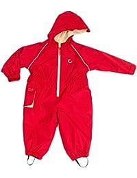Mono impermeable con forro polar Hippychick - Fiesta roja - 4-5 años
