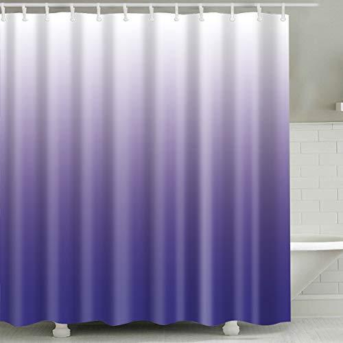 Hibbent Duschvorhang, 180x180 Schimmelresistenter 12 Haken -lila(180 * 180cm) - Duschvorhang Lila