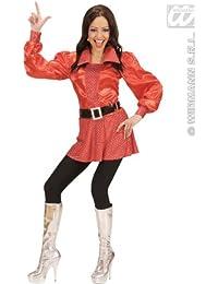 70 er Jahre Disco Fever Party Kostüm rot