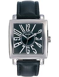 KA:OZ A94102SS5I - Reloj para hombres, correa de cuero color negro