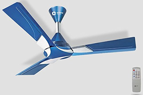 Orient Ceiling Fan with Remote Wendy Azure Blue Silver (1200...