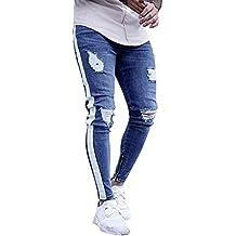 2bf33bcc7e Amazon.es  pantalones rotos hombre - Blanco