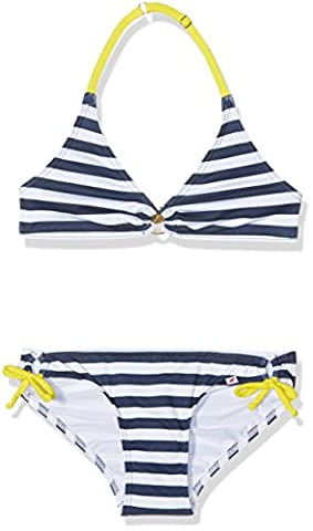olympia Mädchen Triangel Bikinis - Bikini Kids 34013, Gestreift, Gr.