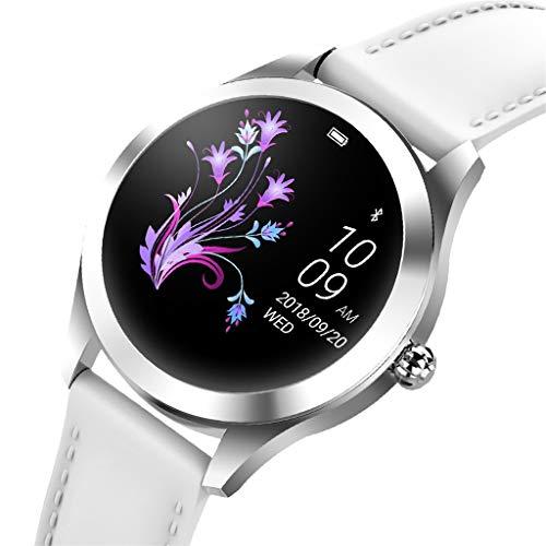 Mamum Neue KW10 Smart Watch IP68 wasserdichtes Herzfrequenzmessgerät Fitness (Weiß)