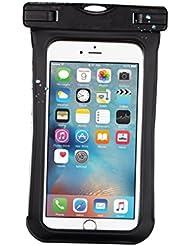 duoguan Universal funda impermeable seco bolsas IPX8certificado Touch Responsive Funda Resistente Al Agua Para iPhone 7, 7Plus, iPhone 6, 6S Plus, negro