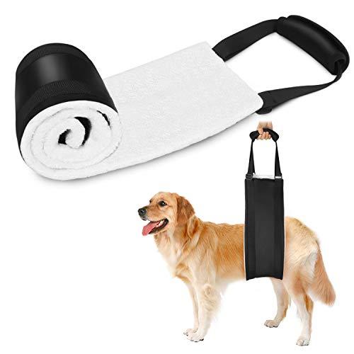Becotop Hundegeschirr Tragehilfe Neue verbesserte Version 2019 Tragehilfe for Hunde Hundegurt Verstellbar Hinterbeine Tierarztgeprüft Hüftstützgeschirr bei Altersschwäche Behinderungen Rehabilitation