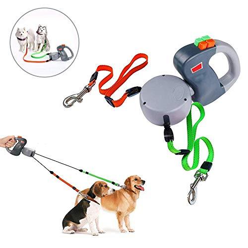 Dual Doggie Pet Leash Hundeleine, Automatische Hund Ver… | 00699936961495