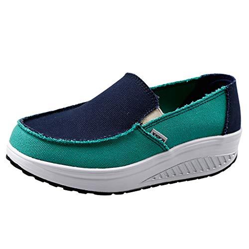 B-commerce Damenmode Wedge Comfort Platform Canvas Dicken Boden Schütteln Schuhe Damen Freizeitschuhe Fitness Schuhe (Mens Größe 13 Stiefel Winter)