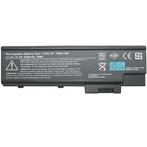 Morewer(TM) Batterie d'ordinateur portable pour Acer 4UR18650F-2-QC141 4UR18650F-2-QC218 916-2990 916-3020 916C2990 916C3020 916C4820F 916C4890F AHA44122909 BT.00403.004 BT.00403.009 BT.00404.004 BT.00407.001 BT.00407.005 BT.00407.007 BT.00407.012 BT.00603.016 BT.00604.007 4602LMi 4602WLM 4602WLMi 4603 4603WLCi 4603WLMi 4604 4604WLCi 4604WLM 4501WLC 4501WLCi 4501WLM 4501WLMi 4502 4502ALCi 4502LC 4502LCi Série batterie pour ordinateur portable [ Li-ion 14.8V 8-cell 5200mAh ]