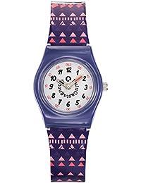 Lulu Castagnette - 38802 - Montre Fille - Quartz Analogique - Cadran Blanc - Bracelet Plastique Multicolore