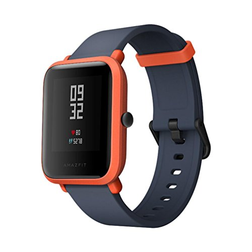 Fitness Tracker ★ Heart Rate Monitor Tracker/Smart Watch Waterproof GPS Outdoor/Xiaomi Mi Amazfit Bip Watch Huami Smart band with Heart Rate Monitor (Orange)