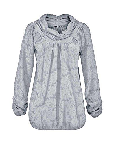 Vivance Collection Damen-Bluse Tunikabluse Grau Größe 40