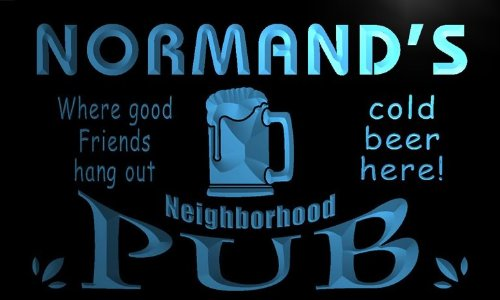 pg916-b Normand's Neighborhood Home Bar Pub Beer Neon Light Sign Barlicht Neonlicht Lichtwerbung - Beleuchtung Normande