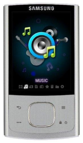 Samsung YP R 0 JE MP3-/Video-Player 16 GB (6,6 cm (2,6 Zoll) TFT LC-Display, FM-Tuner, Kartenslot, USB 2.0) Silber Samsung Video-mp3-player