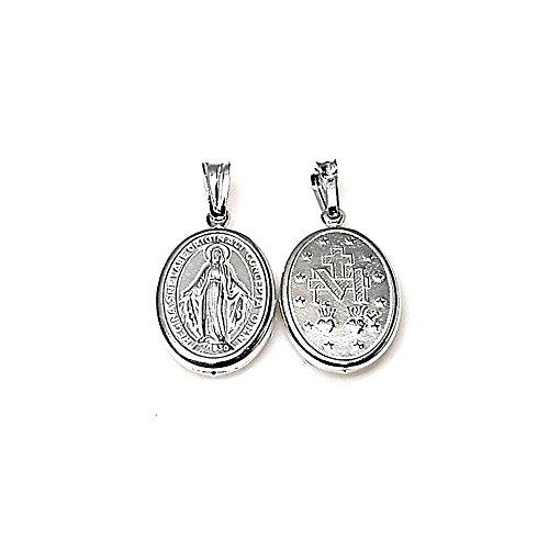 legge 925m 18 millimetri Ciondolo medaglia d'argento. Miracolosa Vergine [AA8162] - Miracolosa Vergine