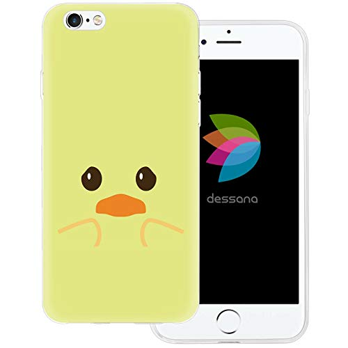 dessana Ente transparente Schutzhülle Handy Case Cover Tasche für Apple iPhone 6/6S Baby Ente