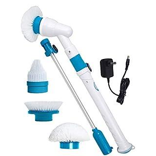 EP-Pet Supplies Automatische Reinigung Bürste-Aktualisierte Version, Hausarbeit Multi-Funktion Drahtlose Elektrische Reinigung Pinsel Rotierende Badezimmer Aufladung-Multi-Regulation Stecker