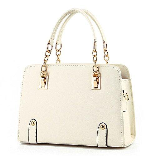 koson-man-womens-pu-leather-vintage-beauty-fashionable-tote-bags-top-handle-handbagwhite