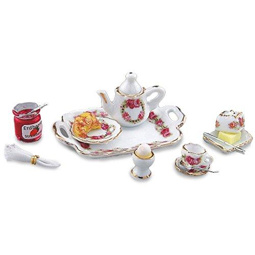 Dollhouse Miniature Complete Breakfast Tray by Reutter Porcelain