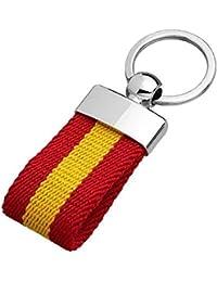 YOJAN PIEL LLAVEROS DE Lona Bandera DE España Varios Colores