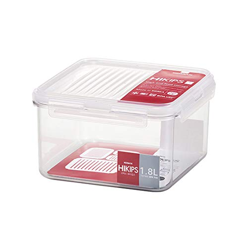 KOMAX HIKIPS S31 (1.8Lt) TRITAN BPA Free Container | Safe Hygienic Airtight Clear Food Storage Container | Microwave Dishwasher Freezer Safe |